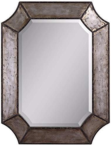 Uttermost Elliot Mirror, 31.8 L x 24.0 W x 1.5 D, Brown