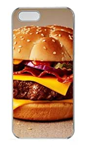 Cheeseburger Polycarbonate Plastic Hard Case for iPhone 5S and iPhone 5 Transparent