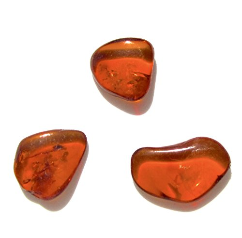 Ian and Valeri Co. Raw Honey Amber Flat Gemstones Very Small Set of 3 -