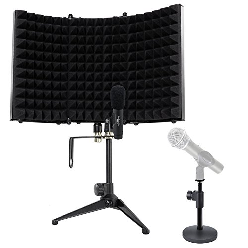 Audio Technica PRO37 Diaphragm Condenser Microphone PRO 37+Mic Stand+Iso Shield -