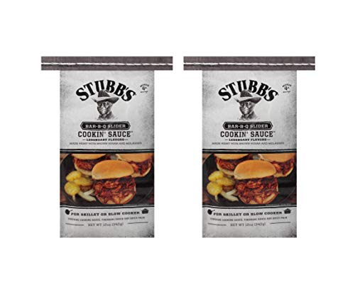 Stubb's BBQ Slider Cookin' Sauce for Skillet or Slow Cooker 12 oz (Pack of 2) (Best Sauce For Roast Pork)