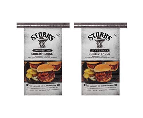 Stubb's BBQ Slider Cookin' Sauce for Skillet or Slow Cooker 12 oz (Pack of 2) (Best Pork Rub For Pulled Pork)