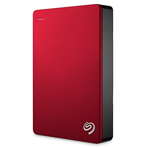 Seagate Backup Plus Portable External Hard Drive 5TB USB 3.0, Red + 2mo Adobe CC Photography ()