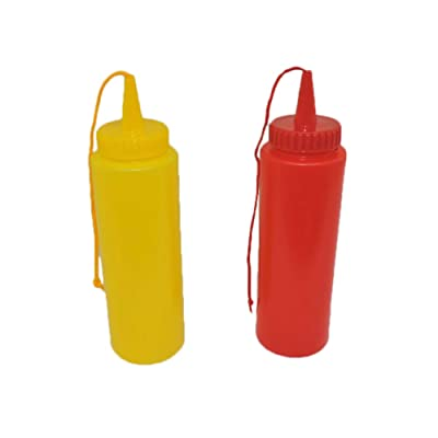 Ketchup & Mustard Fake Novelty Squirt Bottles: Toys & Games