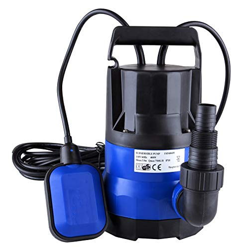 SUNCOO 1/2 HP Submersible Dirty Clean Water Pump Swimming Pool Pond Flood Drain Heavy Duty Water Transfer