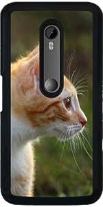 Funda para Motorola Moto G (3 generation) - Lindo Gato Rojo by WonderfulDreamPicture