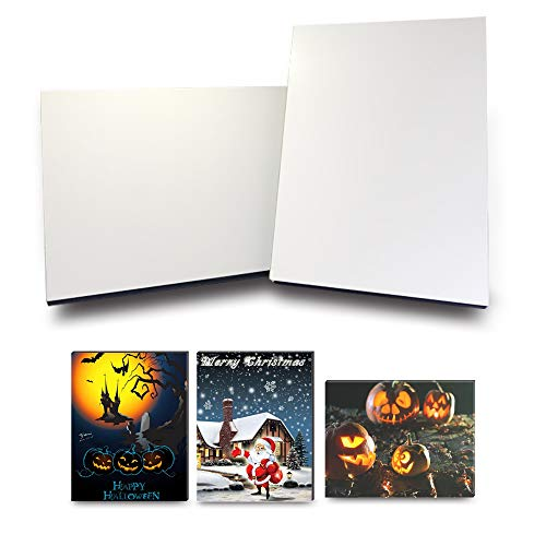 Bosstop 4 PCS 5X7 inch Personalized Picture Sublimation MDF Blanks Photo Frames Custom Photo Tabletop Wall Mounting Christmas Festival DIY for Heat -