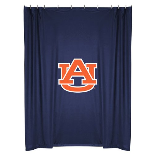 Auburn Tigers COMBO Shower Curtain & Valance/Drape Set (Drapes Size 82 X 63) - Decorate Your Shower and Bathroom Window & SAVE ON BUNDLING! by Sports Coverage