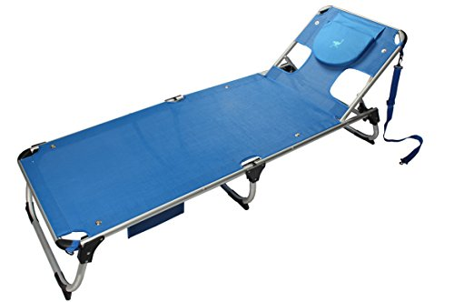 Ostrich Mist Chaise By, 75.25 x 25.75 x 12, Blue