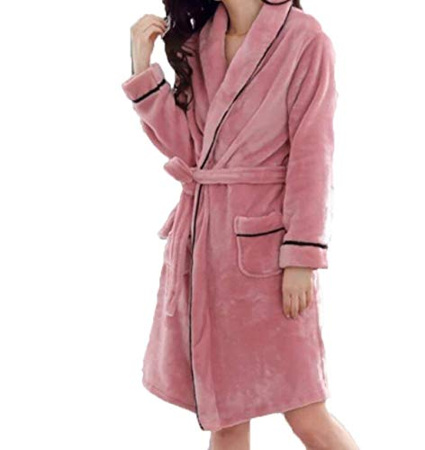 Franela De Hombres Para Camisones Engrosados Pink2 Pijamas Damas Hogar Baño Caída E Invierno ropa Mode Marca El 1vXwxX7t