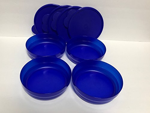 Tupperware Impressions Cereal Bowls & Lids set of 4 in Electric Tokyo ()