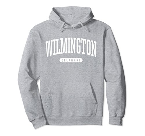 Unisex Wilmington Hoodie Sweatshirt College University Style DE USA 2XL Heather Grey