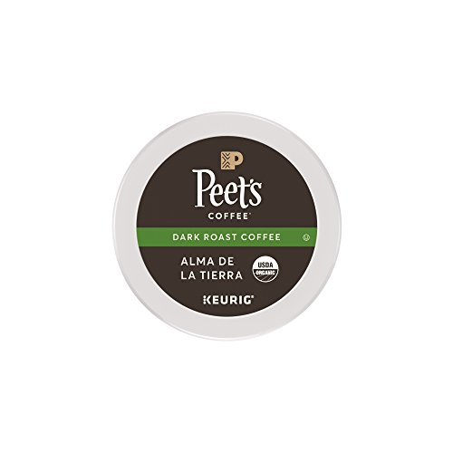 Peet's Coffee, People & Planet, Alma De La Tierra, Dark Roast, K-Cup Pack (16 ct.), USDA Organic Single Cup Coffee Pods, Lively & Acidic Blend of Latin American Coffees; for All Keurig K-Cup Brewers (Organic Coffee Packs)
