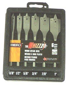 (MIBRO 476940 Whizzz Bit Spade Bit Set, 3/8in. to 1in, 6 Piece)