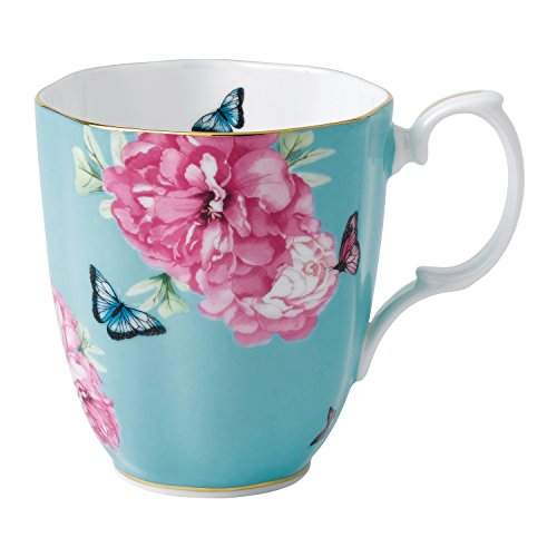 Royal Albert 40001826 Friendship Vintage Mug Designed by Miranda Kerr, 13.5-Ounce, Turquoise