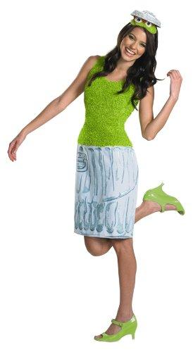 [Oscar Sesame Street Ladies Costume (8-10)] (Oscar Sesame Street Costume)