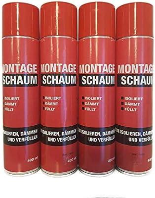 4 x 400 ml Hasit montaje espuma 1,6 L: Amazon.es: Bricolaje y herramientas