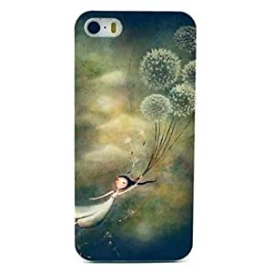 GONGXI Dandelion Girl Pattern PC Hard Case for iPhone 5/5S