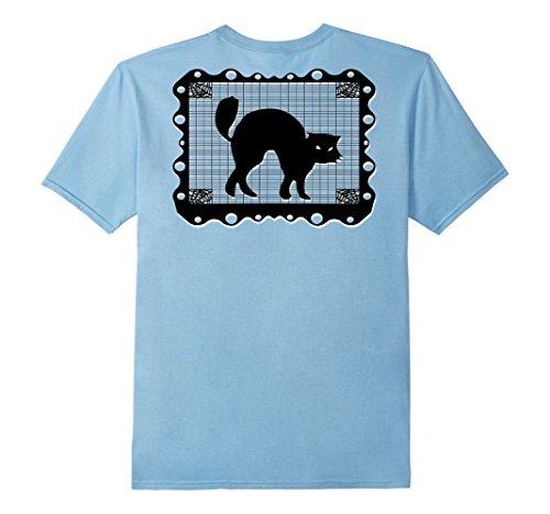 Mens Chicano Halloween Cat Mexican Papel Picado T-shirt S...