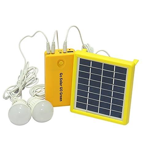 Luces LED Solares Amarillo Sistema de Generación de Energía Solar Una nueva Generación de Sensor de