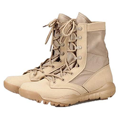 snfgoij Stivali Militari Tattici Uomini Sabbia Deserto Leggero Traspirante Stivali da Combattimento per L'Estate Alta Desert Boots Alpinismo Sandcolor