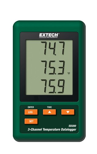 Extech SD200 3-Channel Temperature Datalogger by Extech