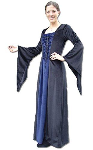 Schwarz Langes Leonardo Circe Blau Damen Gothic Vampire Carbone Kleid xUtw0t1gq