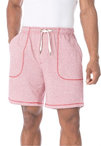 Big & Tall King Size Pork Chop Pocket Short (Raspberry,Tall - 4Xl) (Men Looking For Plus Size Women)