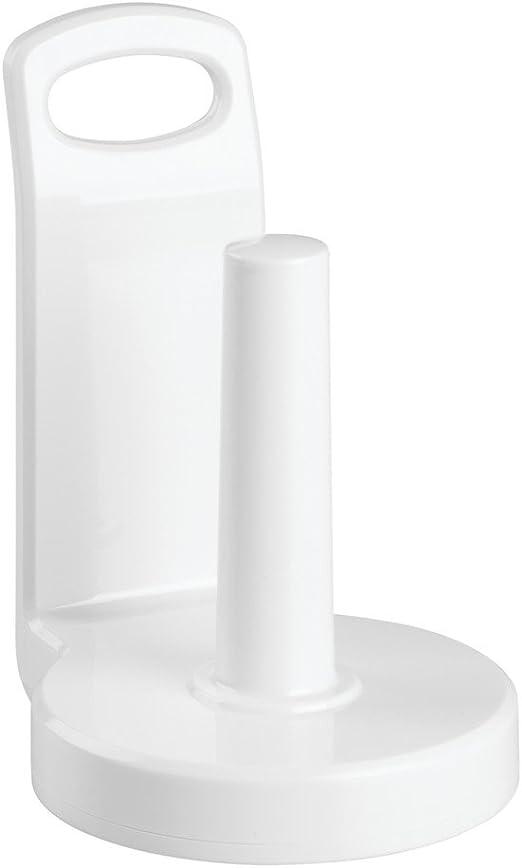 Vertical Paper Towel Holder for Kitchen Countertop WHITE SLEEK