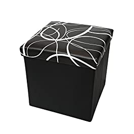 Otto & Ben 45″ Storage Ottoman with Memory Foam Seat, Folding Large Foot Rest