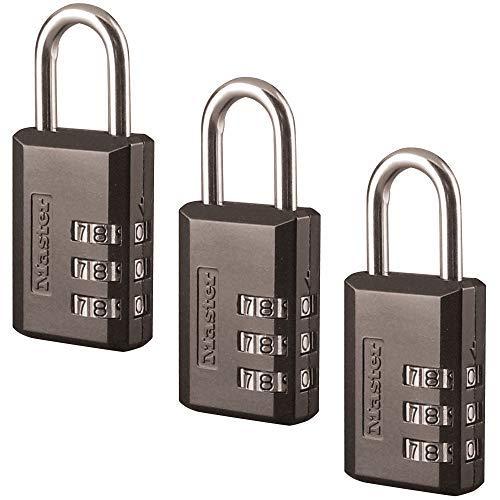 Master Lock 647D 646D Padlock, Black, 3 Pack
