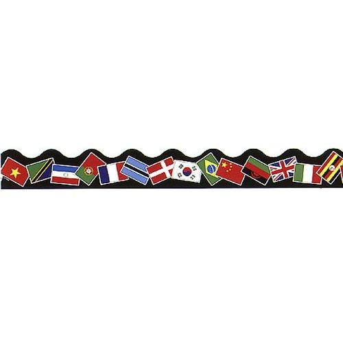 TREND ENTERPRISES INC. TRIMMER WORLD FLAGS (Set of 24) by Trend Enterprises Inc