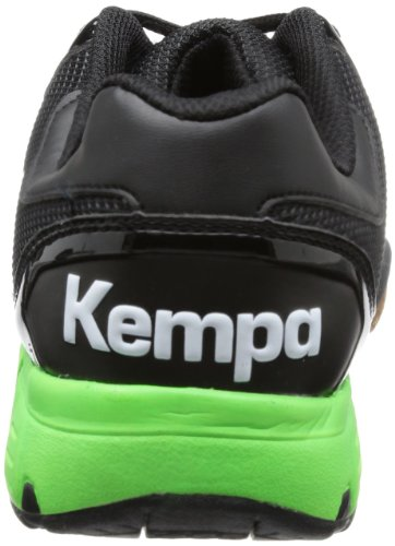 Kempa Tornado XL - zapatillas de balonmano de material sintético unisex negro - Schwarz (schwarz/fluo grün/silber schwarz/fluo grün/silber)