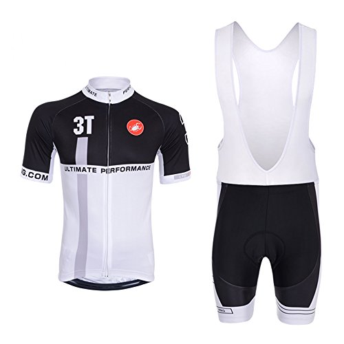 Castelli 3T Pro Cycling Team Jersey Set Short Sleeve with Bib Shorts 3D  Padded DG034-3T White XL - Buy Online in UAE.  db2dde4d4