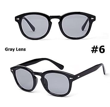 daf7640b28 Aprigy - Fashion Johnny Depp Round Style Tint Ocean Lens Sunglasses Brand  Design Party Show Sun