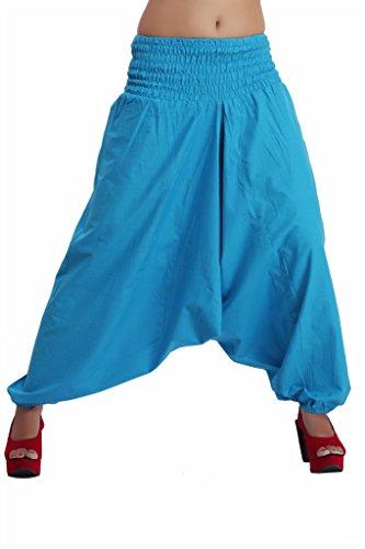 Jaipur Kala Kendra Mujer Algodón Harén Pantalones Cortos De para pantalones azul celeste