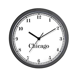 CafePress Chicago Classic Newsroom Unique Decorative 10 Wall Clock