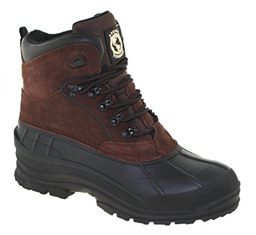 Khombu Rugged Exposure Men's Mammoth II Waterproof Winter Boots Dark Brown, ()