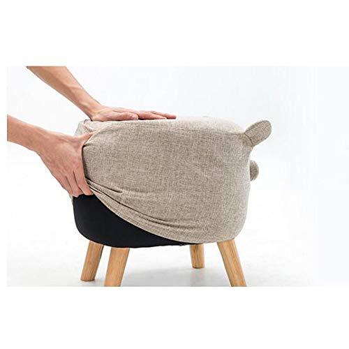 VYC Muebles modernos Ninos Taburete de animales Taburete de sofa de madera maciza Taburete de ganado de estilo de dibujos animados,A-lino