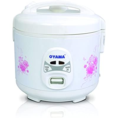 Click for Oyama 6-cup (uncooked) Rice Cooker-Steamer-Warmer in White with Floral design by Tiger America Corporation (Six cup)