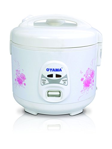Oyama 6-cup (uncooked) Rice Cooker-Steamer-Warmer in White with Floral design (Six cup)