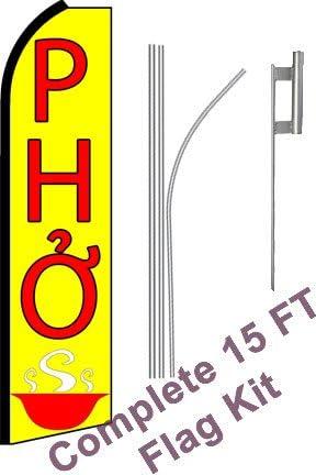 five LIQUOR 15 WINDLESS SWOOPER FLAGS KIT 5