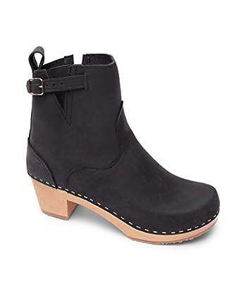 Sandgrens Swedish High Heel Wooden Clog Boots for Women   New York