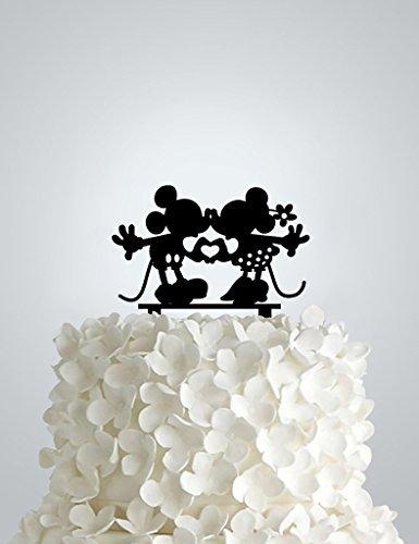 Frog Studio Home V97R4MHYA7 Mickey and Minnie Cake Topper, (Mickey Studio)