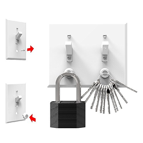 KeyCatch Magnetic Key Holder And Organizer from KeySmart - A Modern Key Rack That Easily Installs By Screwing Into Your Lightswitch Panel - Holds Up To 3 lbs (Pack of 3) by KeySmart