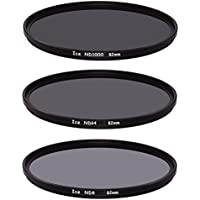 ICE 82mm Slim ND Filter Set ND1000 ND64 ND8 Neutral Density 82 10, 6, 3 Stop Optical Glass