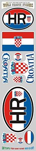 - Croatia 10 Stickers Set Croatian Flag Decal Bumper stiker car auto Bike Laptop