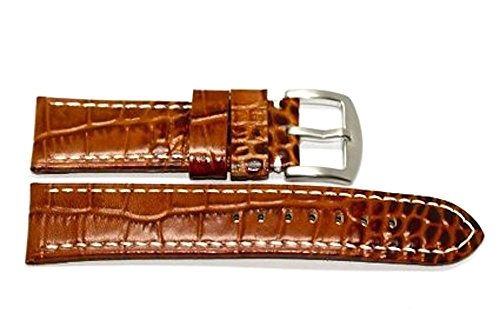 Couture Watch Brown Strap (20MM BROWN ALLIGATOR GRAIN GENUINE LEATHER WATCH BAND STRAP FITS FOSSIL &)