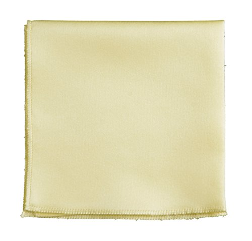 Pocket Square Hanky in Solid Colors Sized for Boys and Men By Tuxedo Park (Daffodil Yellow)