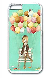 Anime Balloon Girl Slim Hard Cover for iPhone 6 Case (4.7 inch) PC Transparent Cases